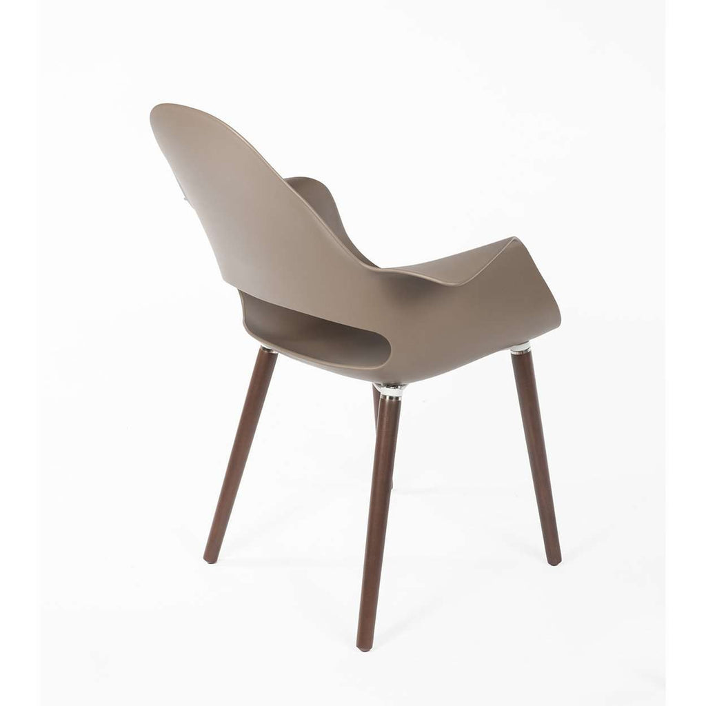 Organic Arm Chair - Grey/Taupe Polypropylene Shell -  [new product]
