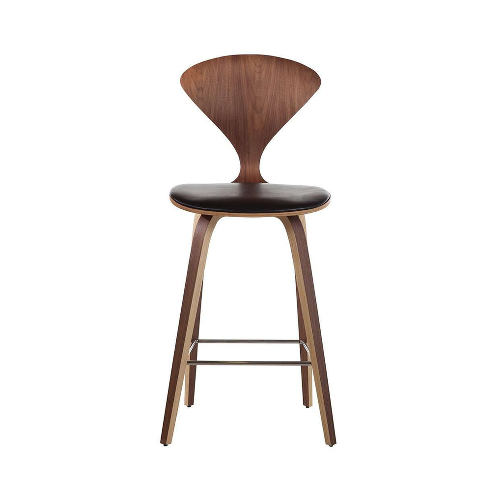 Mid Century Norman Bar Stool- Analine Leather