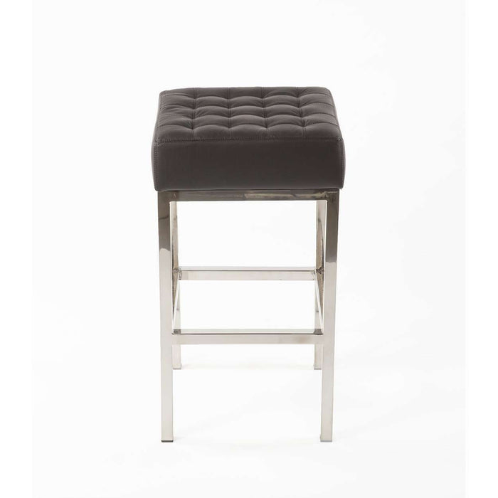 Mid Century Vadso Tufted Leather Counter Stool