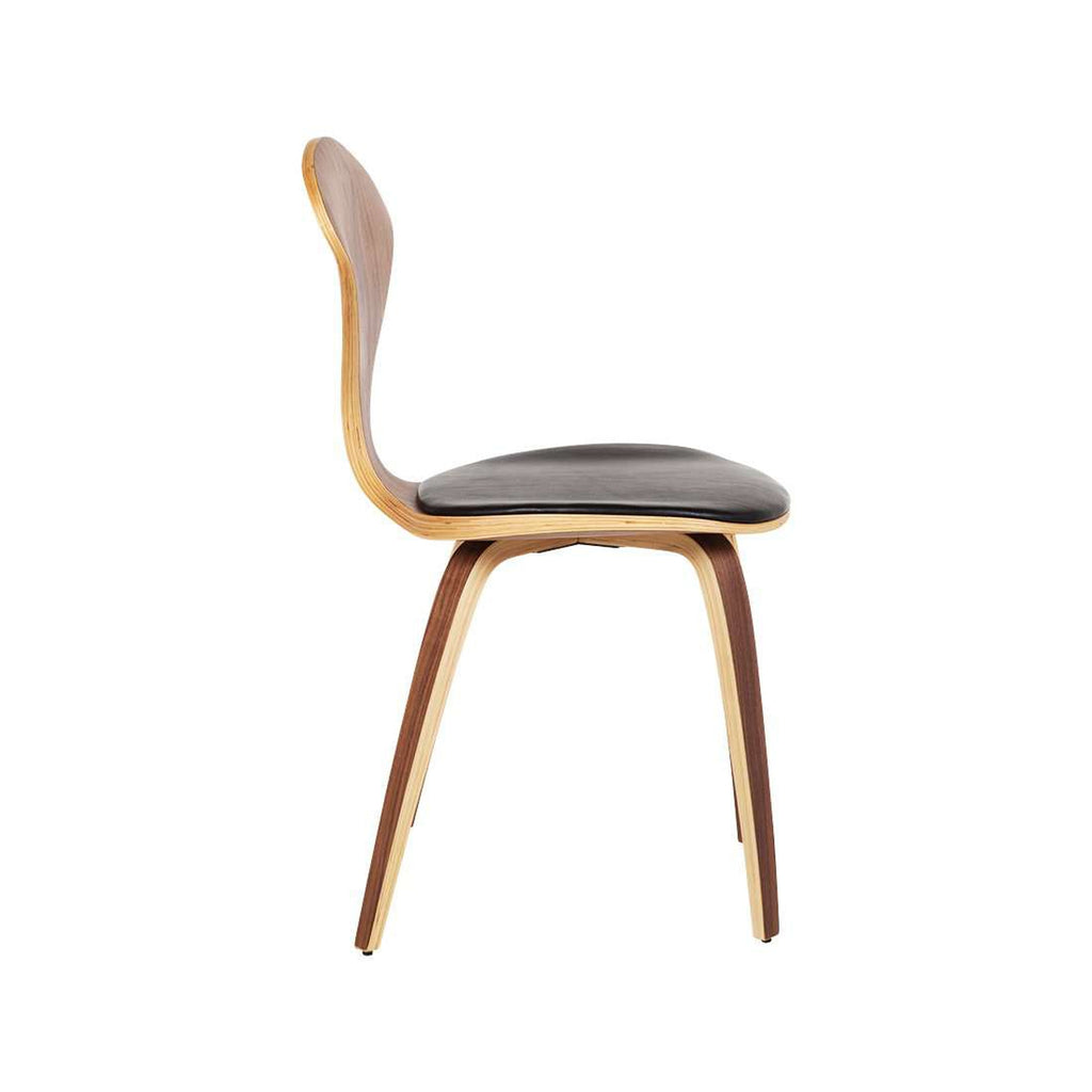 Chern Side Chair with Leather Seat Pad  [staff pick]