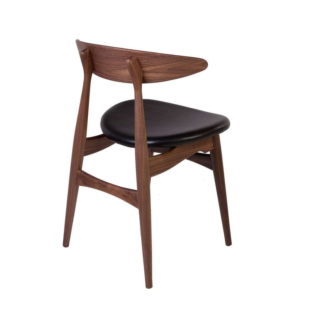 CH33 Dining Side Chair - Walnut / Leather