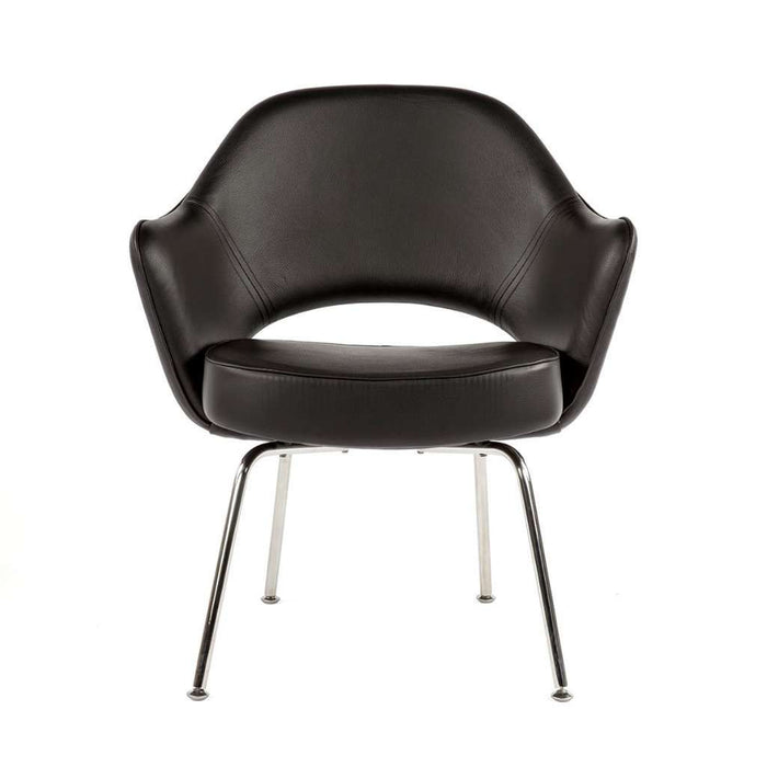Saarinen Executive Arm Chair - Black Leather