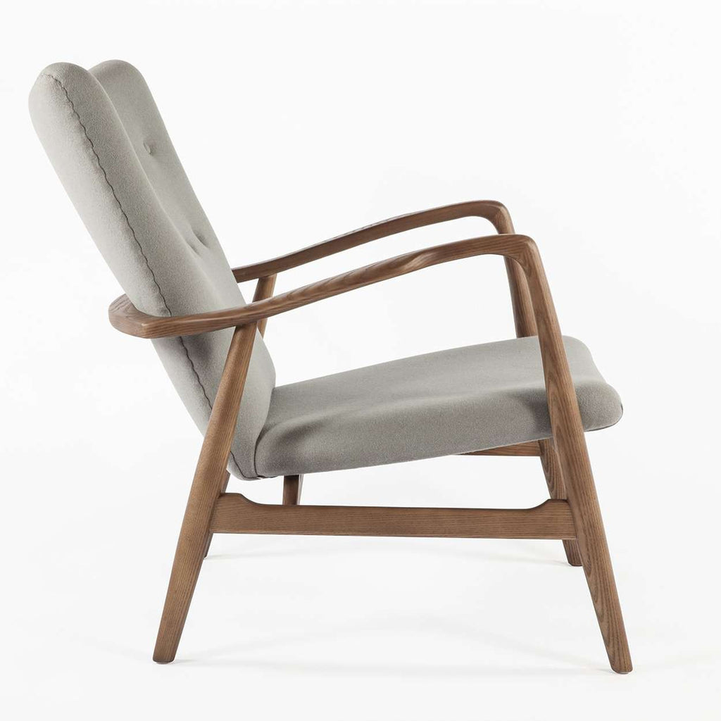 Kelley Mid Century Lounge Chair - Grey [new product] free shipping