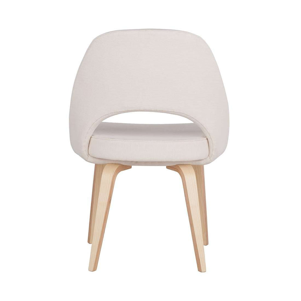 Executive Side Chair With Wood Legs   Cream [staff Pick]