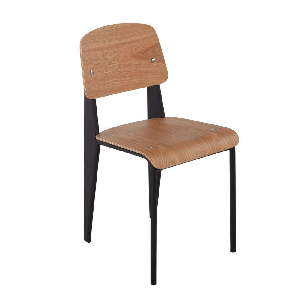 Mid Century Prouve Chair - Oak *free local shipping only*
