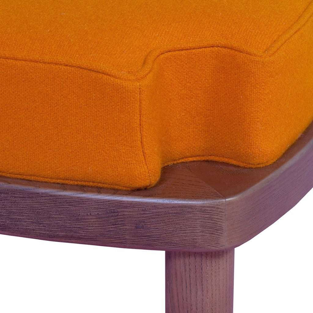 Custom Sean Stool/ Ottoman - Orange