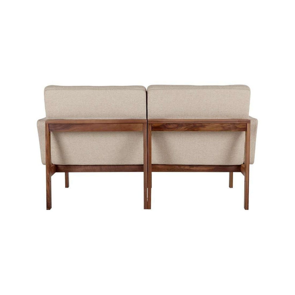 Custom Mid Century Modu Sofa in Walnut