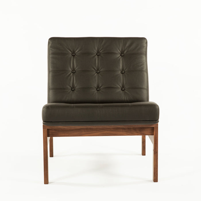 Mid Century Moduline Sofa Section - Black Leather