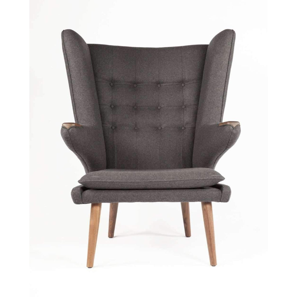 PP19 Papa Bear Chair and Ottoman - Dark Grey [staff pick] free shipping