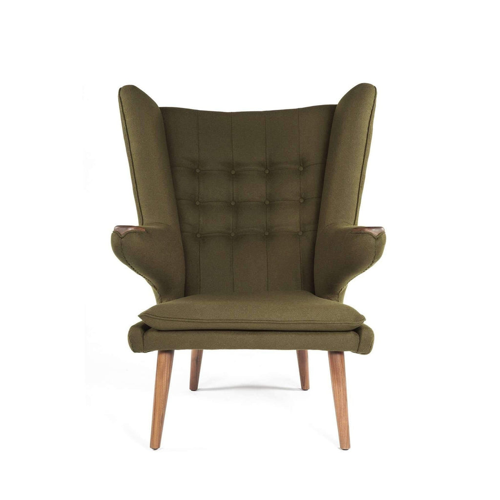 papa bear chair. PP19 Papa Bear Chair And Ottoman - Green