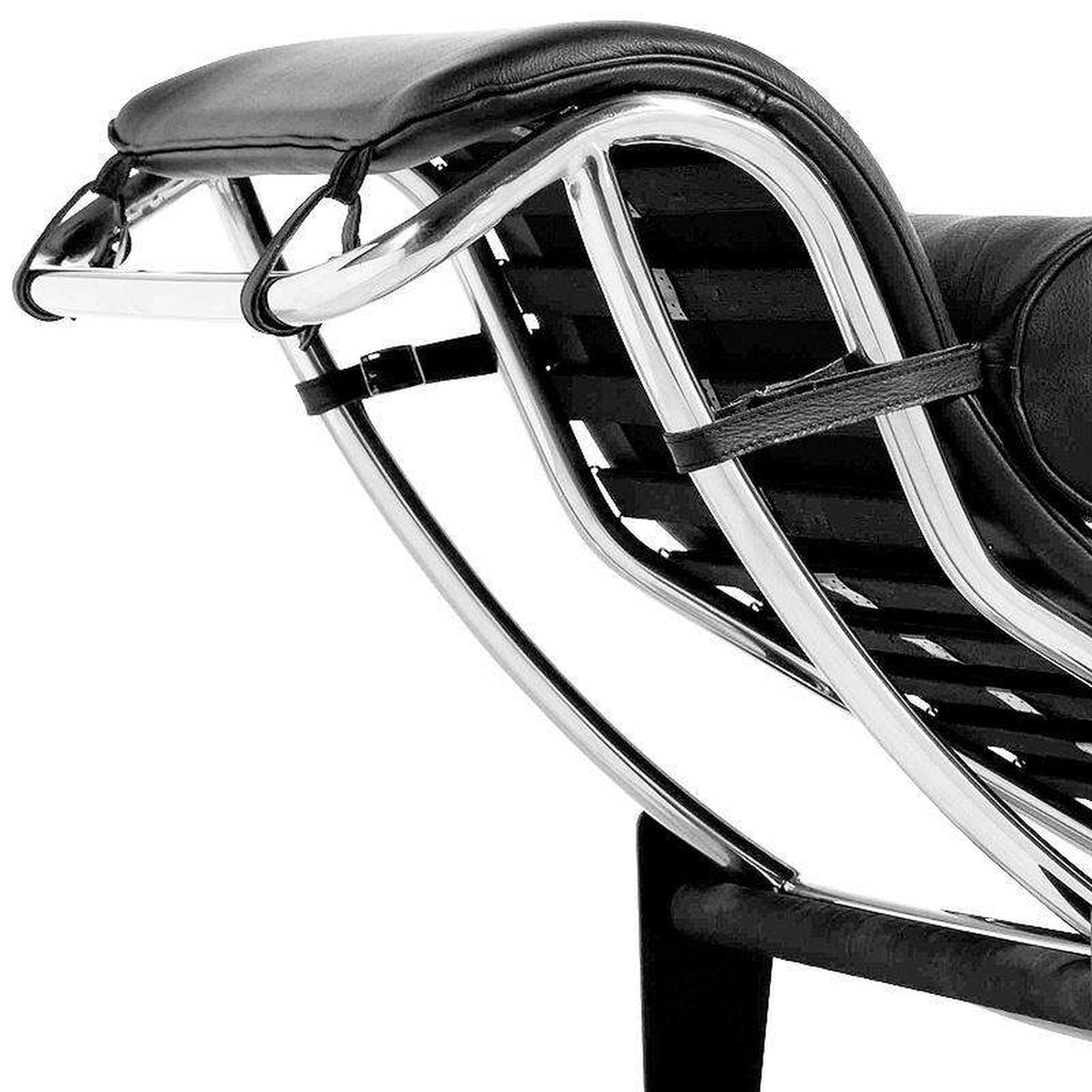 LC4 Chaise Lounge - Black Leather