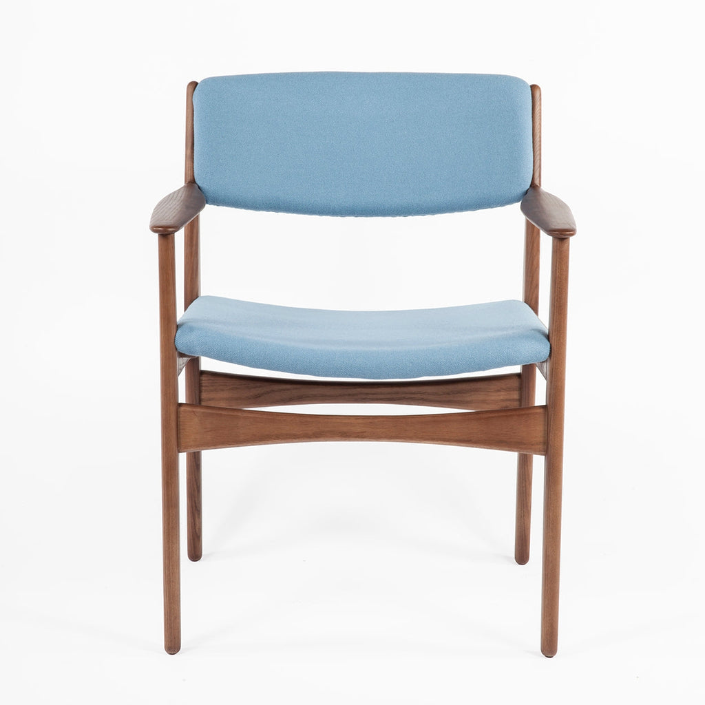 Mid Century Prouve Dining Arm Chair - Blue