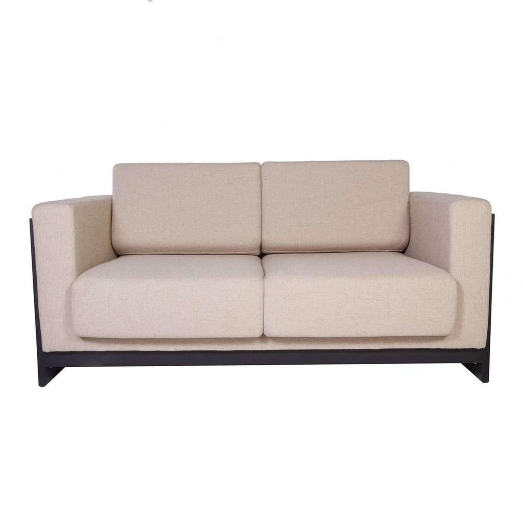 Original Sean Dix Designer Bravura Love Seat - Beige with Black Frame - [new product] free local shipping only****