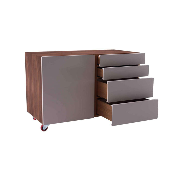 Kutio Rolling Storage File Cabinet