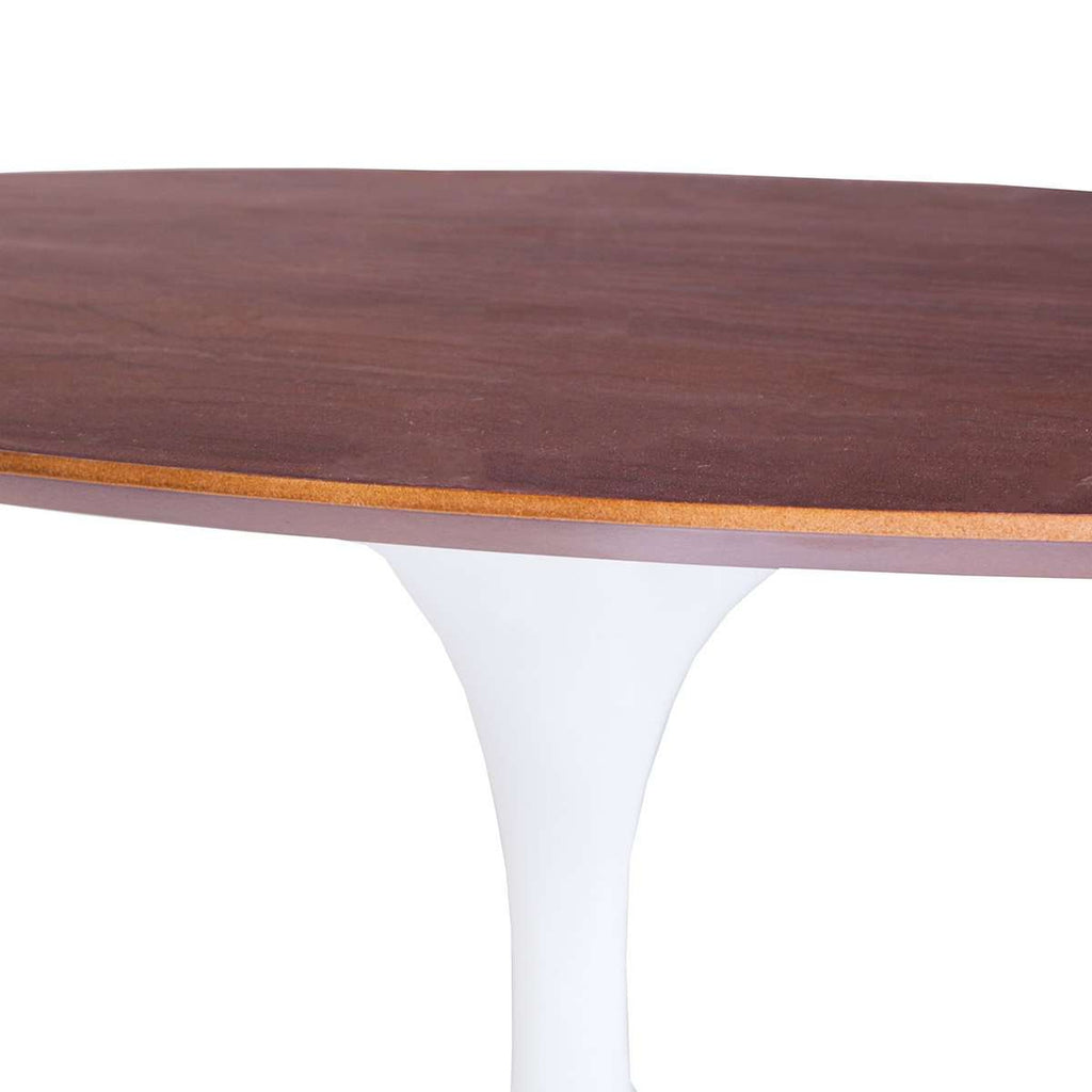 Mid-Century Modern Reproduction Walnut Tulip Coffee Table