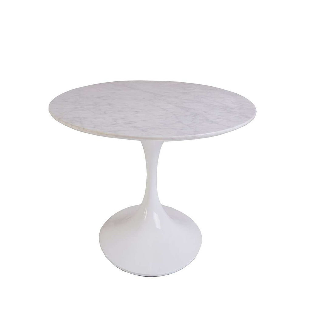 Oval Tulip Coffee Table: Mid-Century Modern Reproduction Marble Tulip Coffee Table