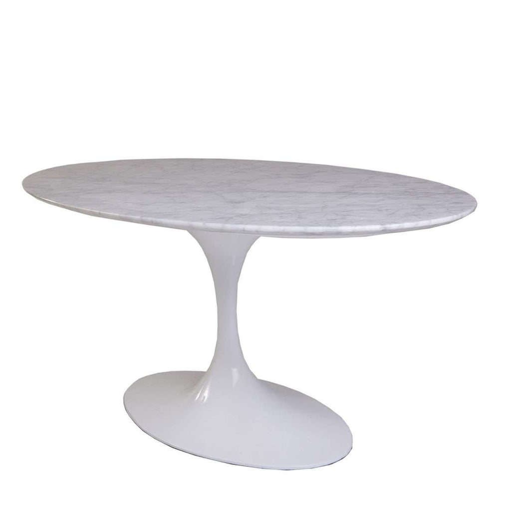 Klein Marble Coffee Table: Mid-Century Modern Reproduction Marble Tulip Coffee Table