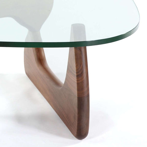 Mid Century Triangle Glass Coffee Table [Staff Pick]