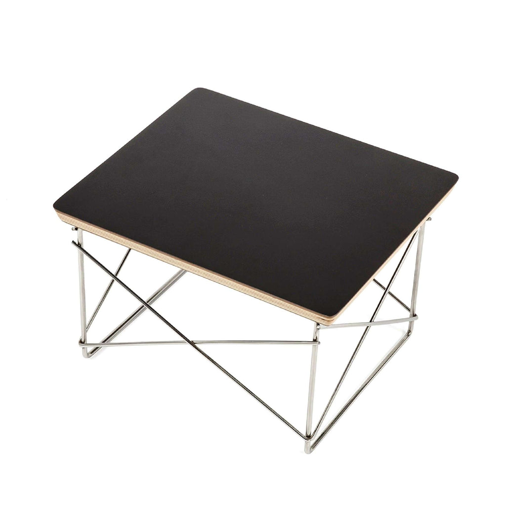 Wire Base Low Table - Black Top  [staff pick]