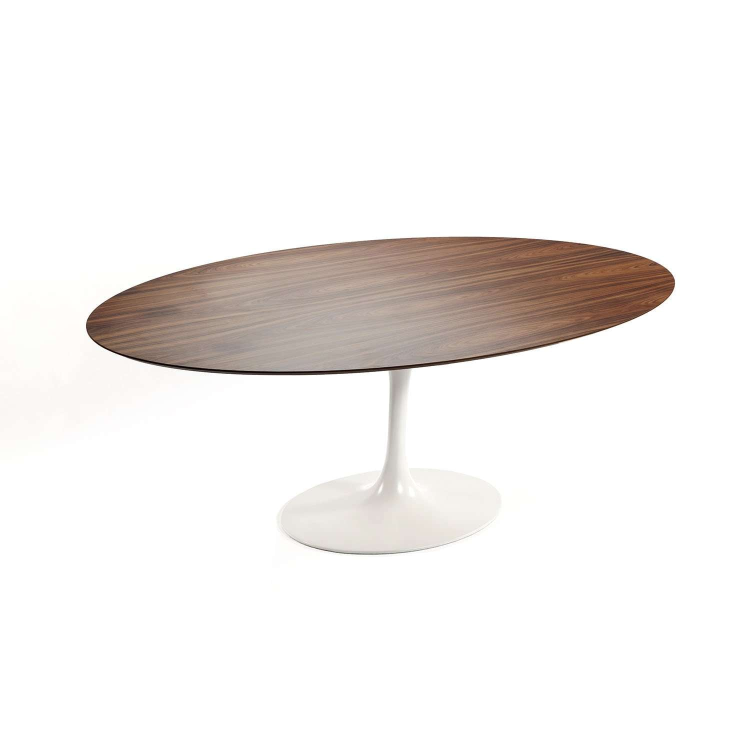 MidCentury Modern Reproduction Tulip Dining Table Quot Oval - Walnut tulip dining table