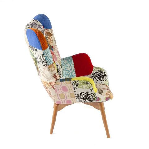 Contour Lounge Chair - Patchwork FREE LOCAL SHIPPING ONLY**
