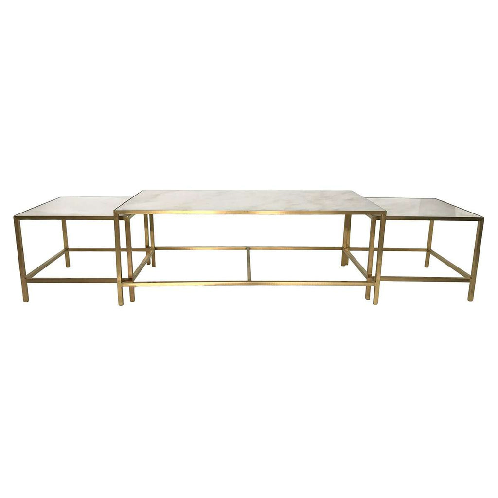 Abboid Nesting Coffee Table Set - Gold
