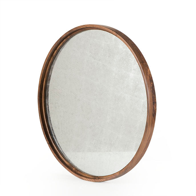Round Silver Leaf Wall Mirror by Sonder