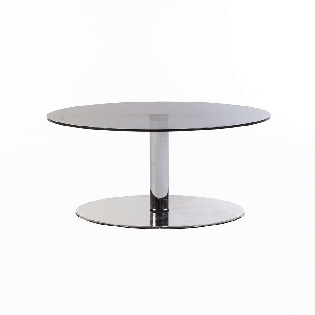 Modern glass Stainless Steel Oval Coffee Table *Free Local Shipping Only*