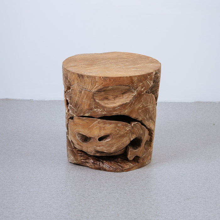 Organic Teak Wood Ashiko Side Table