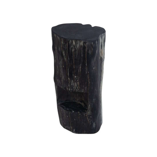 Organic Modernism Freeform Wabi Sabi Triple Burnt Bar Stool