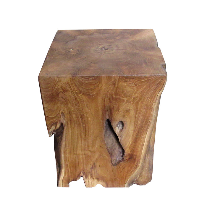 Organic Modern Natural Solid Aged Teak Table