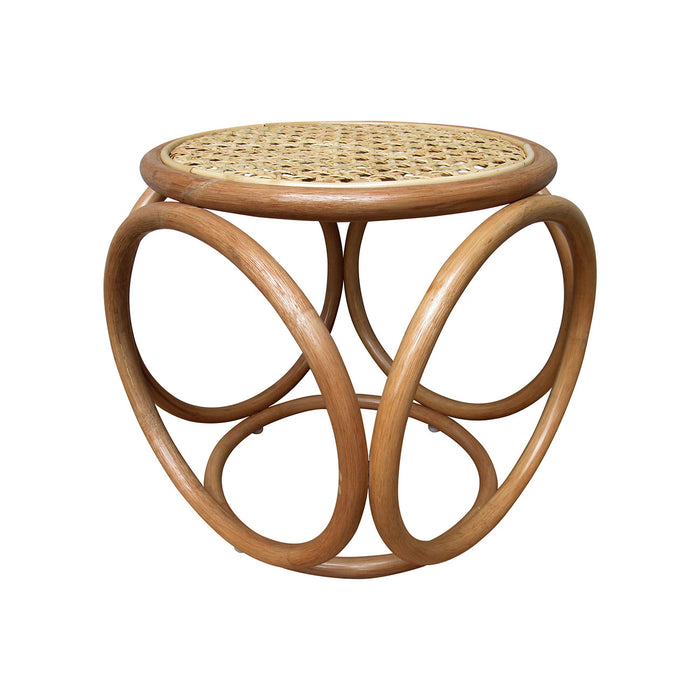 Rattan Tropisk Table/Stool with Cane Top