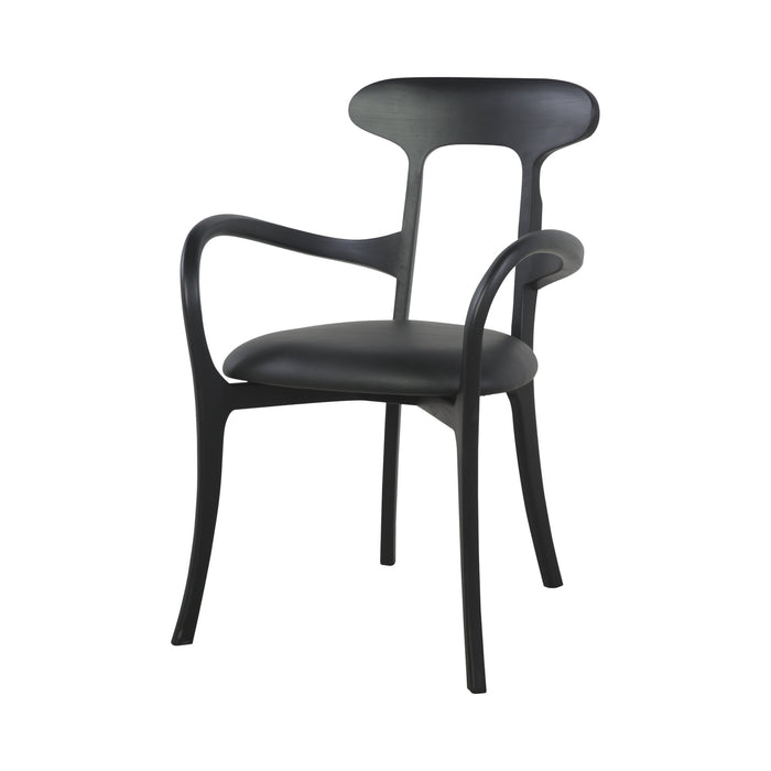 Kris Teak Dining Chair -  Leather