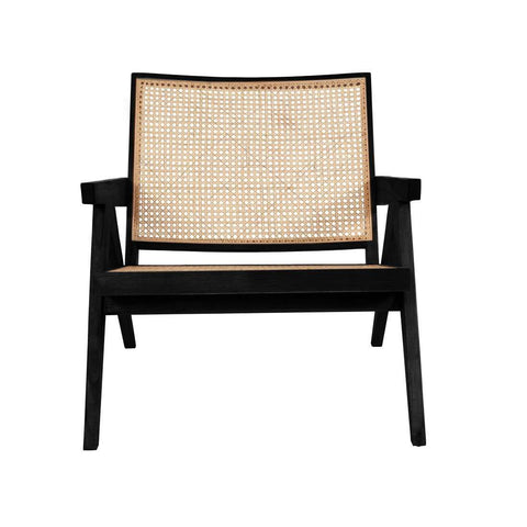Pierre Jeanneret Hand Cane Lounge Chair - Black
