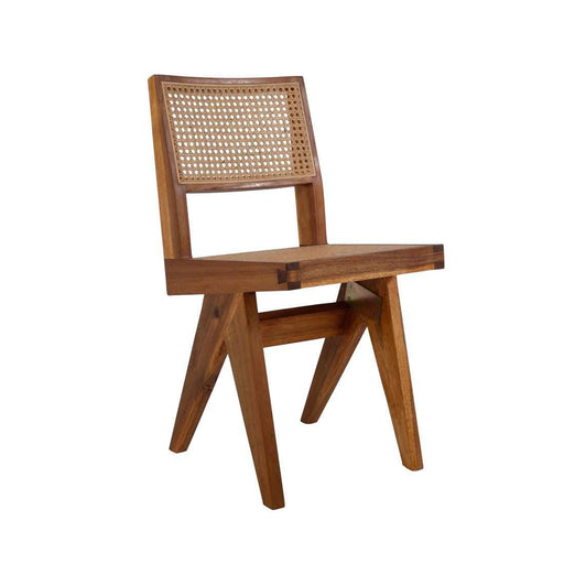 Mid Century Hand Caned Jeanneret Side Chair