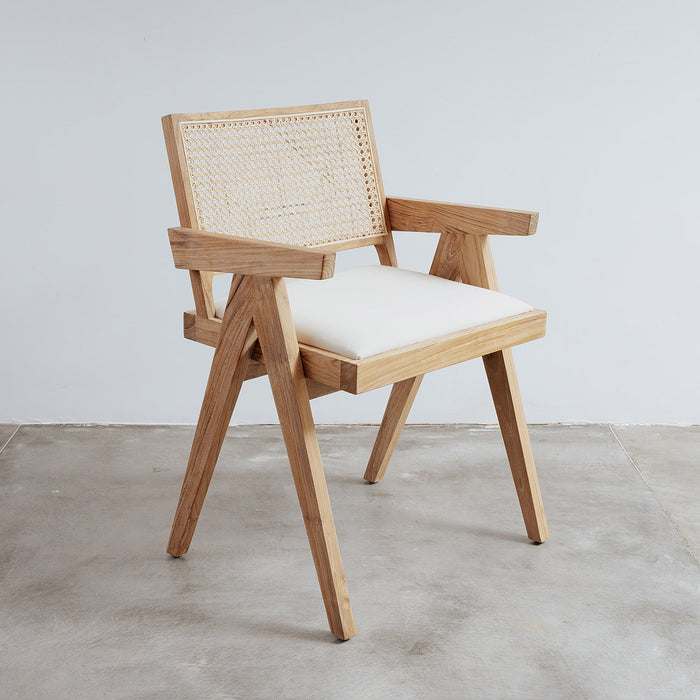 Jeanneret Armchair with Seat Pad