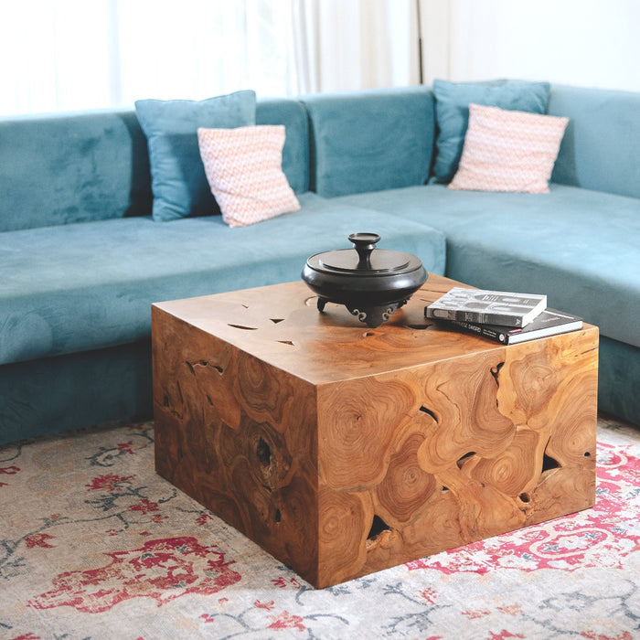 Modernist Teak Wood Organic Coffee Table