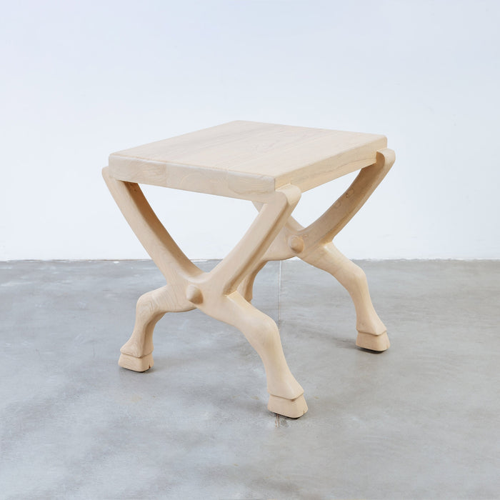 Hoofed Cross Leg End Table