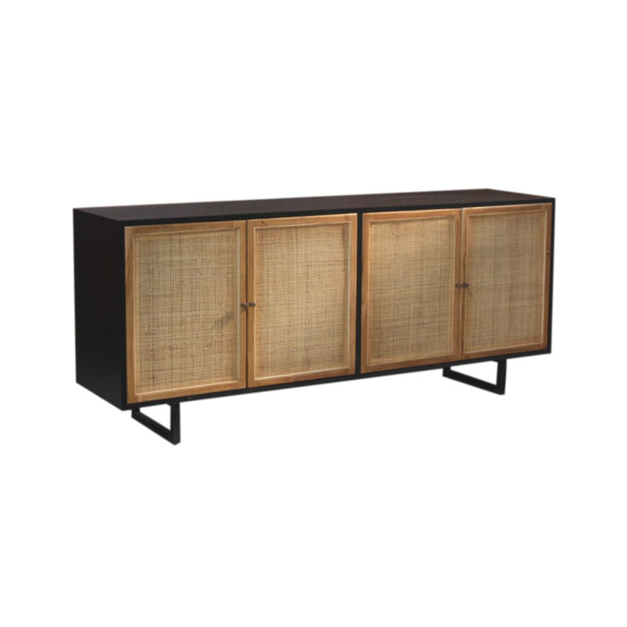 Bombay Premium Teak and Cane Sideboard