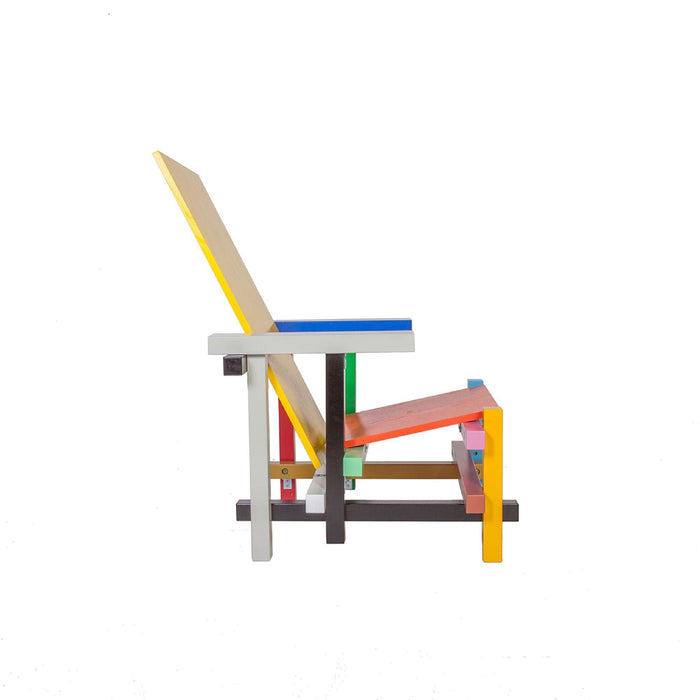 Rietveld Red and Blue Chair - Memphis