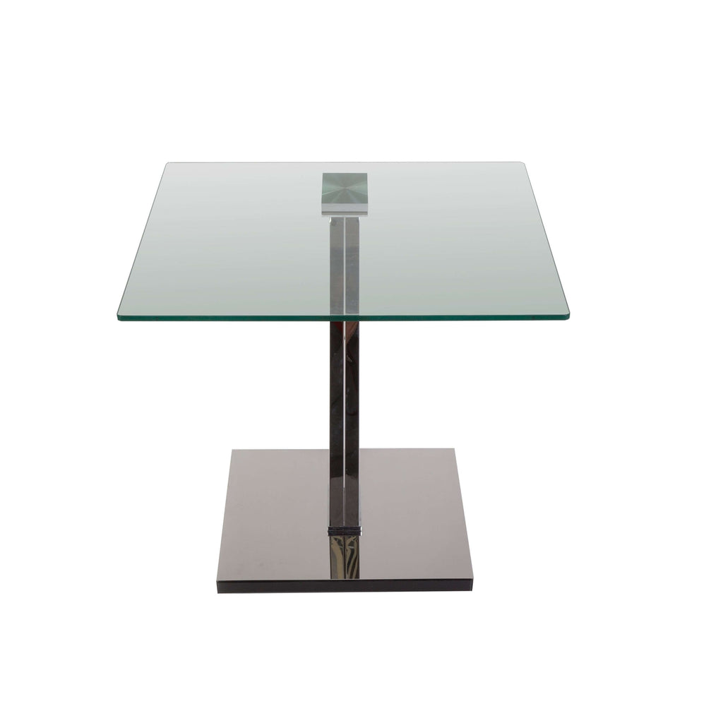 Modern Stainless Steel and Glass Table