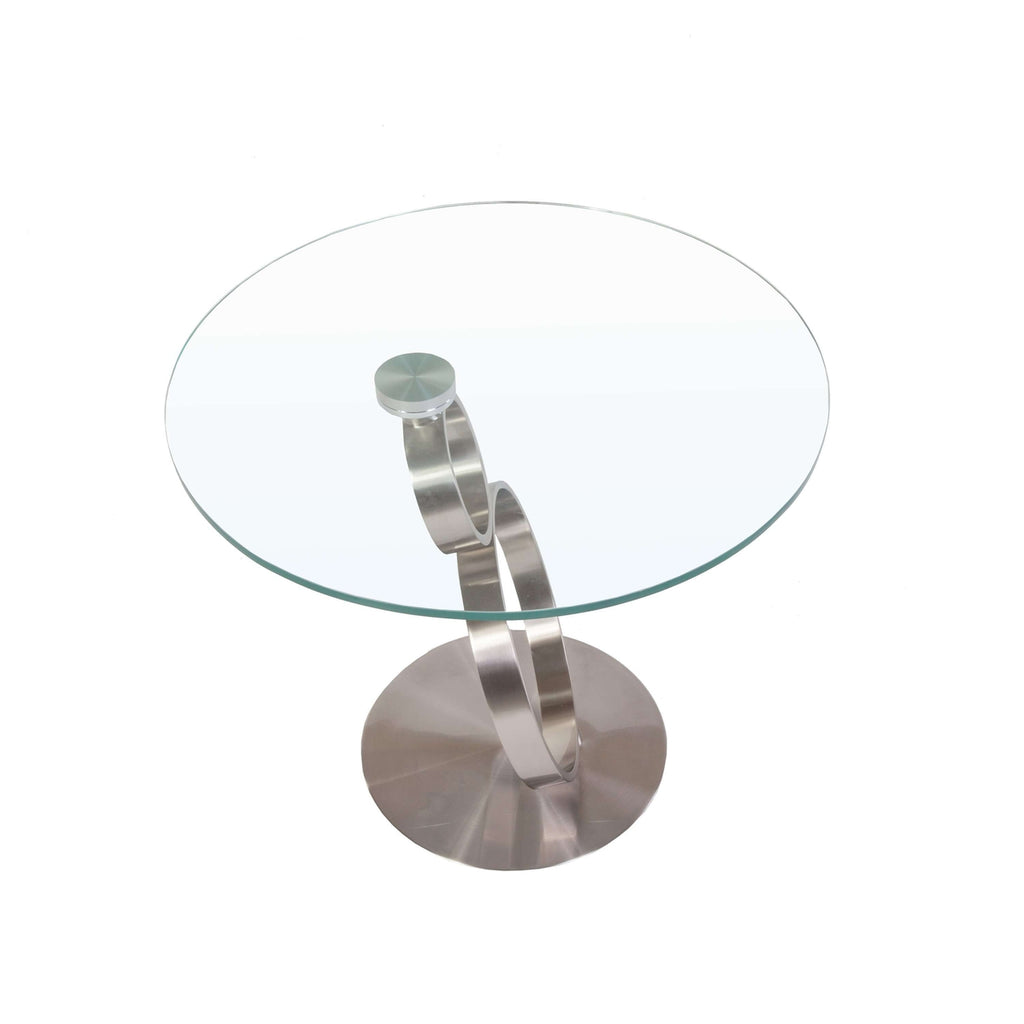 Modern Glass Infinity Side Table