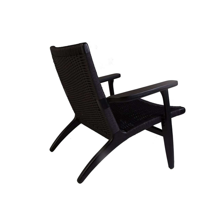 Mid Century CH25 Lounge Chair - Black