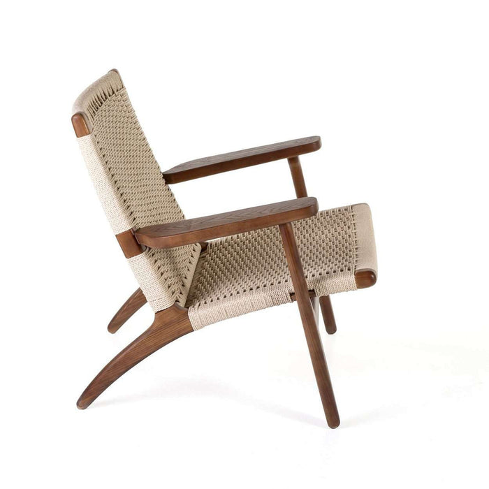 Mid Century CH25 Lounge Chair - Walnut