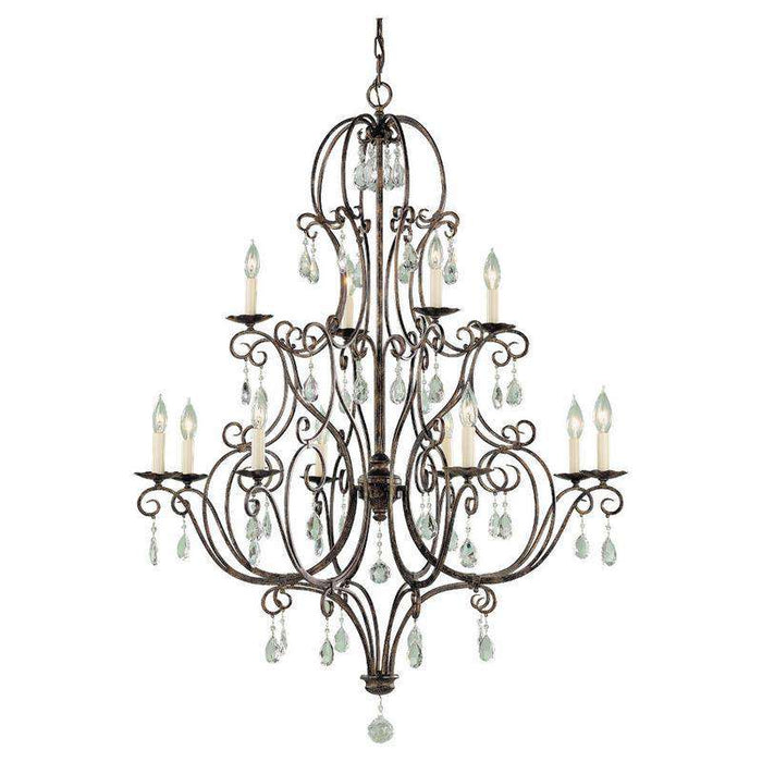 Chateau 12 Light Multi Tier Chandelier