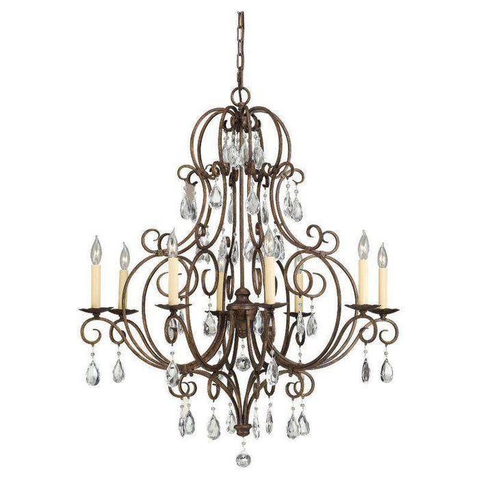 Chateau 8 Light Single Tier Chandelier