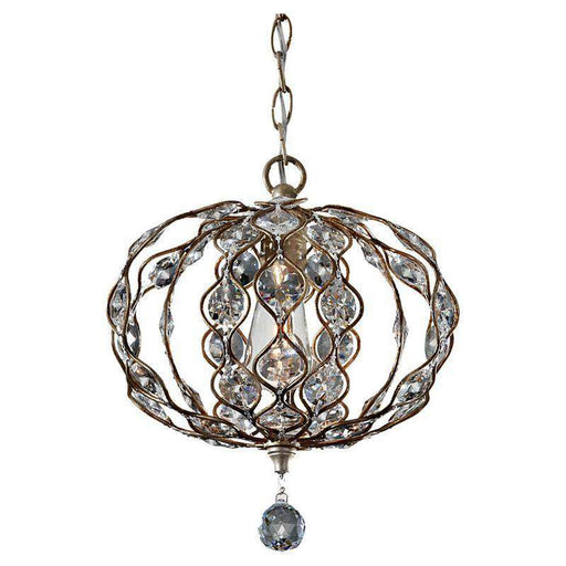 1-Light Leila Chandelier Burnished Silver
