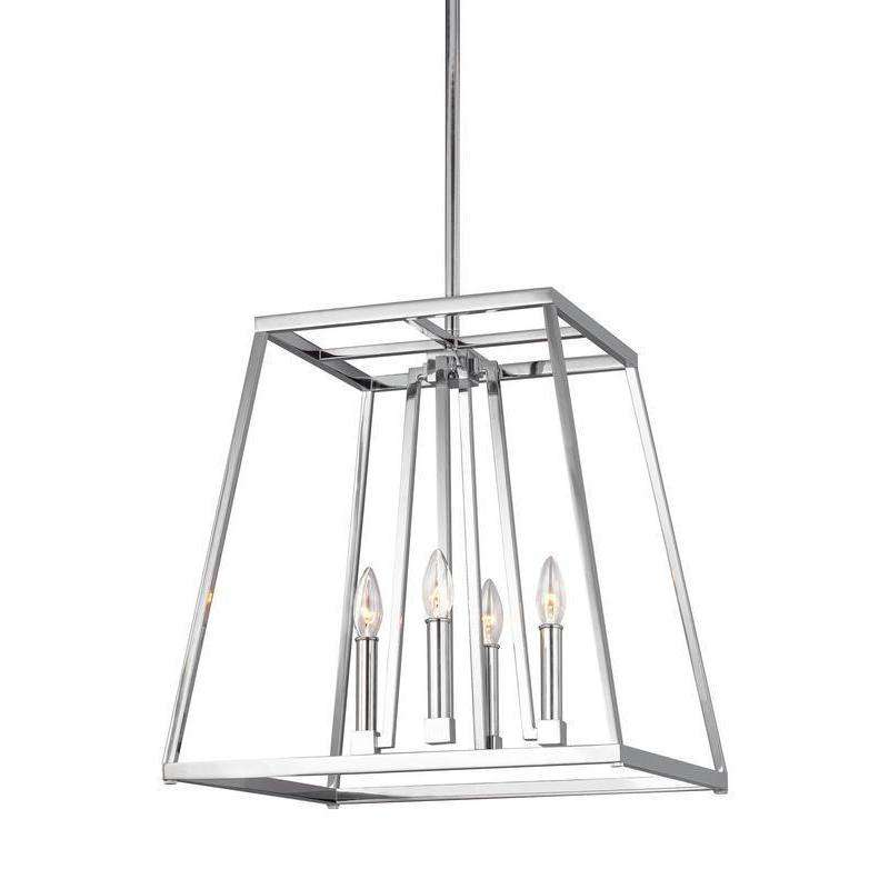 4 - Light Chandelier Pendant Chrome