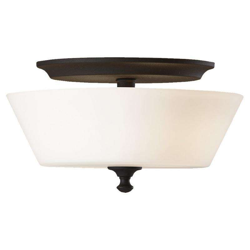 2 - Light Peyton Ceiling Fixture Black