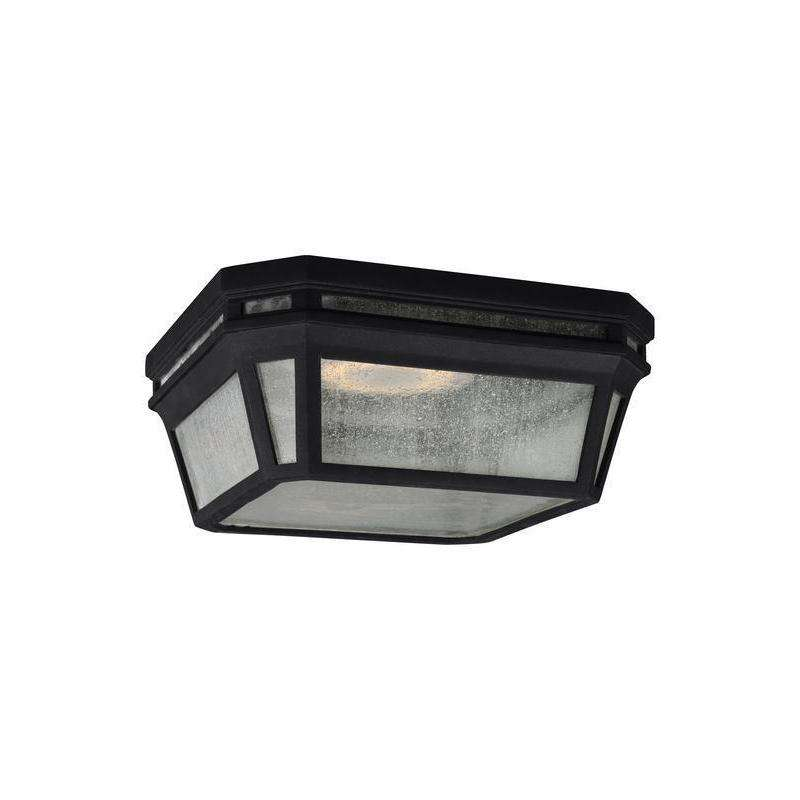 2 - Light Outdoor Flush Outdoor Fixture Black